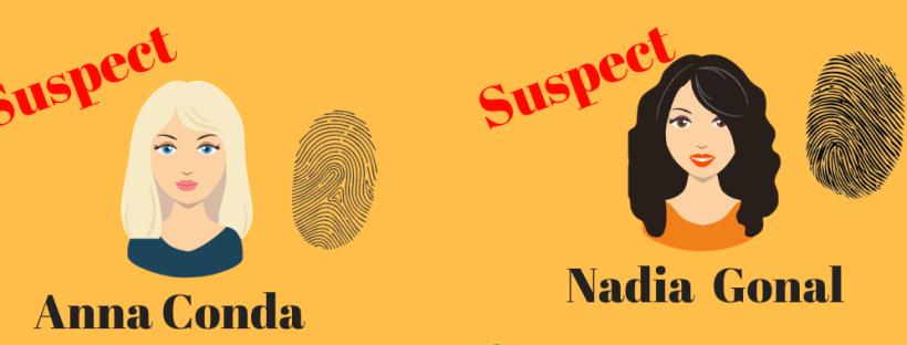 5 fiches suspects étaient proposées aux enfants
