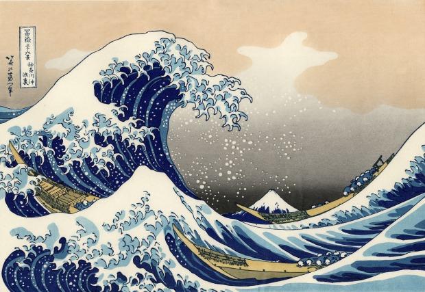 Estampe la Gande vague du peintre Hokusai